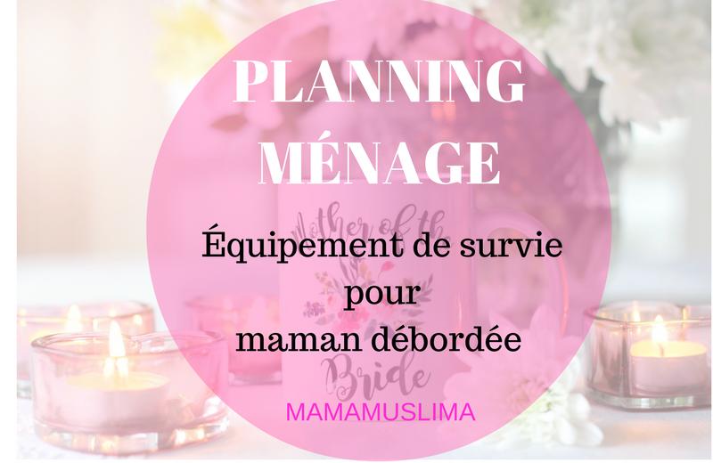 planing ménage