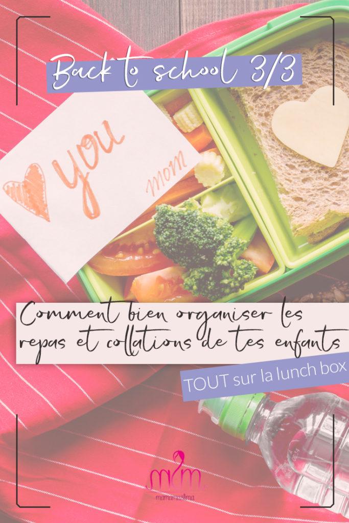 Back to School 3/3 : bien organiser les repas et collations de tes enfants – 10 idées de menus pour la lunch box