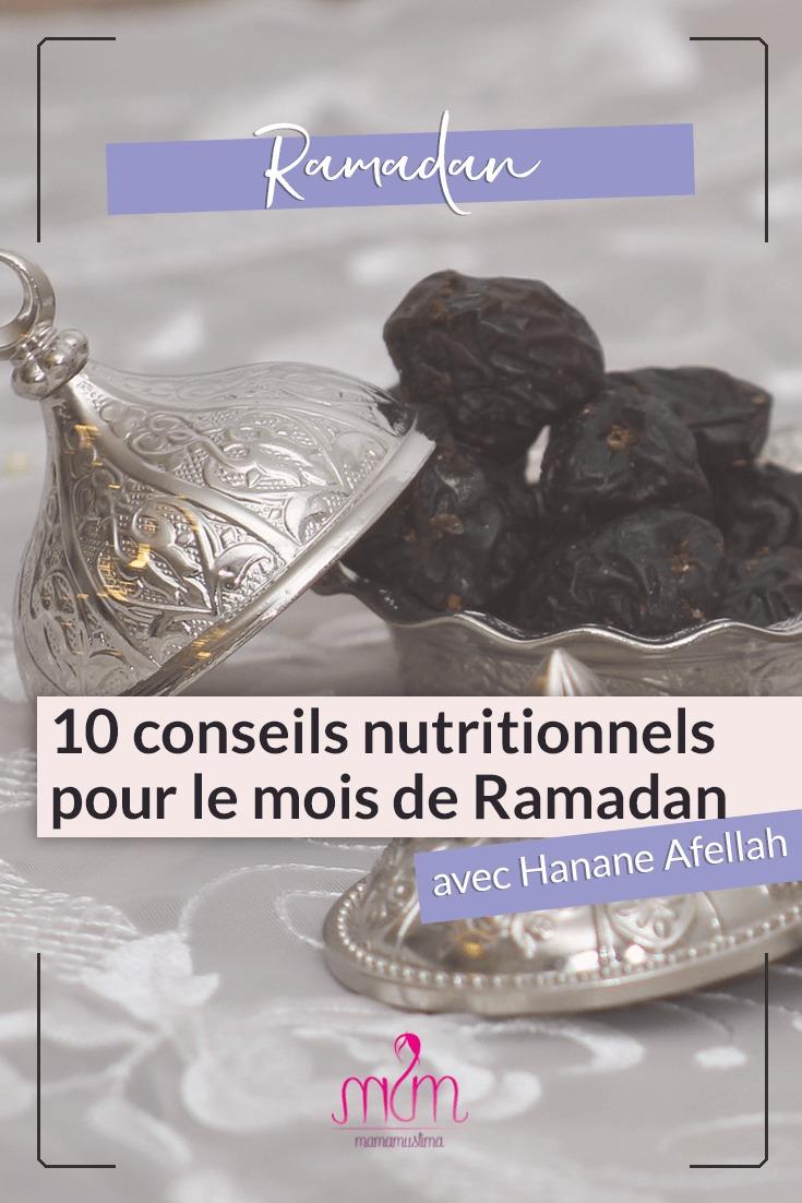 10 conseils nutritionnels pour le mois de Ramadan